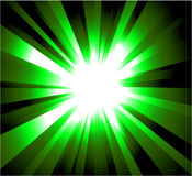 rayons verts d'explosion Images stock