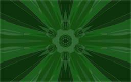 Rayons verts du centre illustration de vecteur