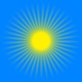 Rayos amarillos del sol Foto de archivo