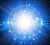 Rayos azules Imagen de archivo