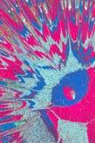 Rayos azules, amarillos, rosados Pinturas acrílicas abstractas Imágenes de archivo libres de regalías
