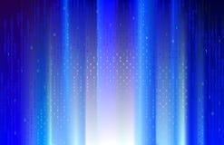 Rayos azules de Digitaces. ilustración del vector