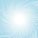 Rayos azules giratorios Foto de archivo