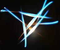 Rayos azules triangulares Imágenes de archivo libres de regalías