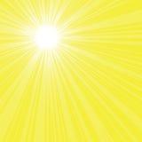 Rayos brillantes del sol Imagen de archivo