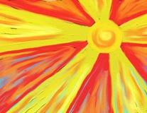 Rayos calientes del sol Imagen de archivo libre de regalías