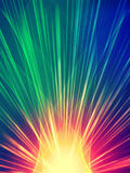 Rayos coloridos Fotografía de archivo libre de regalías