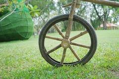 Rayos de bambú de la rueda de bicicleta Fotos de archivo libres de regalías