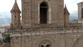 Rayos de dios sobre la catedral 2 almacen de video