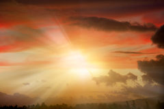 Rayos de la luz. Foto de archivo