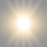 Rayos de la luz, color de oro Fotografía de archivo libre de regalías