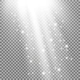 Rayos de la luz con las chispas Fotos de archivo