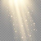 Rayos de la luz con las chispas Fotografía de archivo libre de regalías
