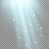 Rayos de la luz con las chispas Fotos de archivo libres de regalías