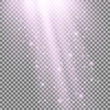 Rayos de la luz con las chispas Imagen de archivo libre de regalías