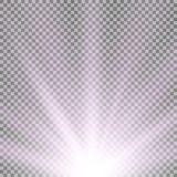 Rayos de la luz de debajo, color púrpura Fotografía de archivo