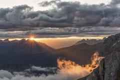 Rayos de la montaña Imágenes de archivo libres de regalías