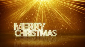 Rayos de la muestra y del oro de la Feliz Navidad Fotos de archivo libres de regalías