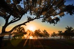 Rayos de la salida del sol Imagen de archivo