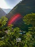 Rayos de la salida del sol y de Sun fotografía de archivo libre de regalías