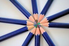 Rayos de los lápices del color Fotografía de archivo