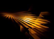 Rayos de oro, perspectiva stock de ilustración