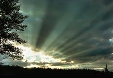 Rayos de sol imágenes de archivo libres de regalías