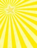 Rayos de sol amarillos de la estrella Imagenes de archivo