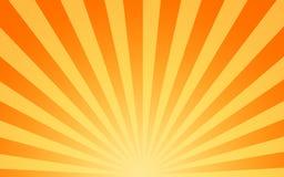 Rayos de sol calientes del sol que brillan stock de ilustración