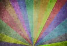 Rayos de sol multicolores Fotos de archivo libres de regalías