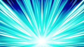 Rayos de Starburst en espacio Animación del lazo del haz de la historieta Fondo futuro del concepto de la tecnología Estrella de  stock de ilustración