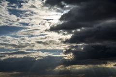 Rayos de Sun fotos de archivo libres de regalías