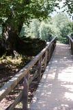 Rayos de Sun en el puente fotos de archivo