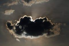 Rayos de Sun a trav?s de las nubes fotografía de archivo