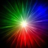 Rayos del arco iris stock de ilustración