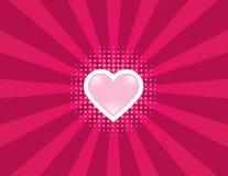 Rayos del corazón Imagen de archivo libre de regalías