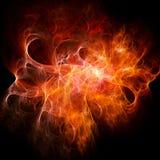 Rayos del fuego del caos stock de ilustración