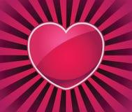 Rayos del icono del amor Fotografía de archivo