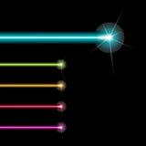 Rayos del laser del vector Fotos de archivo libres de regalías