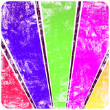 Rayos del sol abstracto en el grunge de la pared con el marco Fotos de archivo