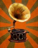 Rayos del sol del extracto del gramófono de la vendimia Fotos de archivo