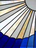 Rayos del vidrio manchado Foto de archivo libre de regalías