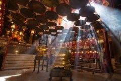 Rayos en el templo, Hong Kong foto de archivo libre de regalías