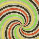 rayos espirales salvajes cobardes del remolino retro de los años 70 de los años 60 Foto de archivo libre de regalías