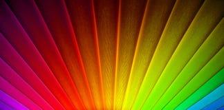 Rayos geométricos del resplandor solar de la salida del sol del arco iris del art déco fotografía de archivo libre de regalías