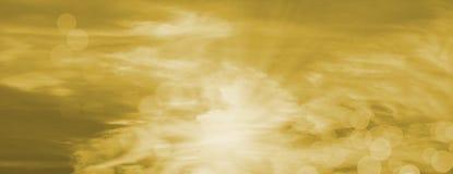 Rayos hermosos del sol con los orbes Fotos de archivo libres de regalías