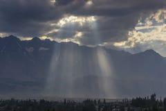 Rayos ligeros Imagen de archivo libre de regalías