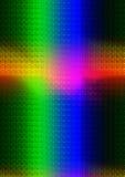 Rayos ligeros en los colores espectrales que forman una cruz Imagen de archivo libre de regalías