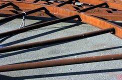 Rusty Spokes Imagen de archivo libre de regalías