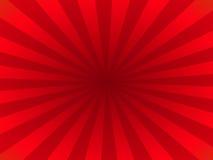 Rayos rojos stock de ilustración